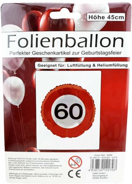 Folienballon 60 Geburtstag