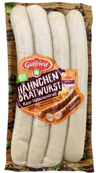 Gutfried Käse-Hähnchen Bratwurst 320g