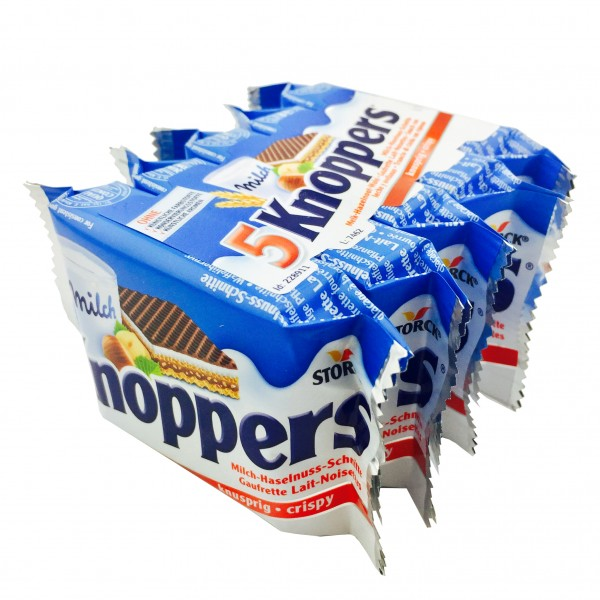 Storck Knoppers Milch Haselnussschnitte 5er Pack 125gr