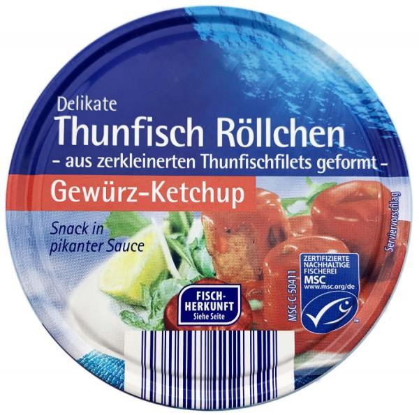Thunfisch Röllchen Snack in Gewürz Ketchup Sauce 200g