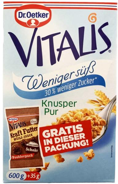 Vitalis Knuspermüsli Knusper Pur Weniger Süß 600g