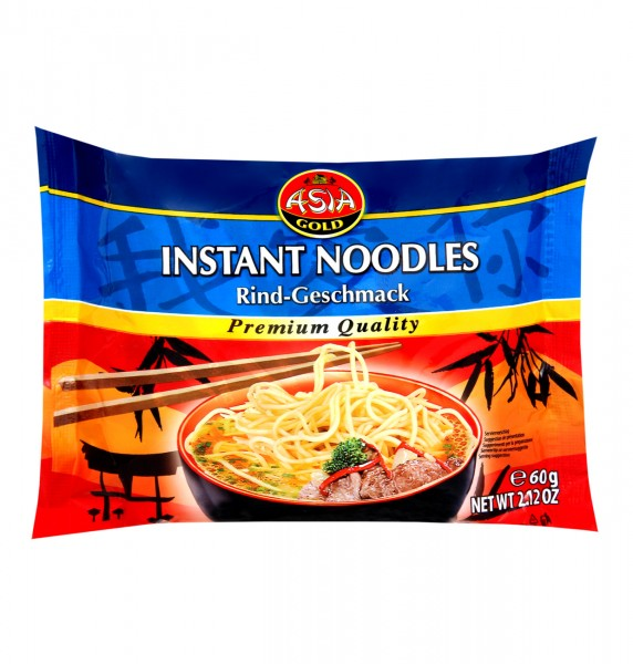 Asia Instant Nudeln Rind Beef 60g