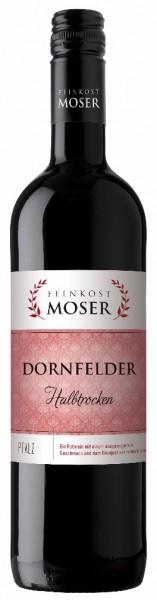 Feinkost Moser Dornfelder halbtrocken 6er Karton Pfalz Rotwein