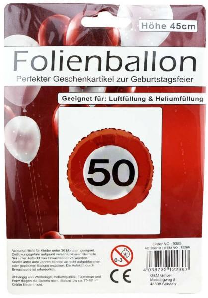 Folienballon 50 Geburtstag