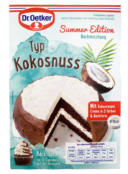 Dr. Oetker® Summer Edition Kokosnuss Backmischung 247g