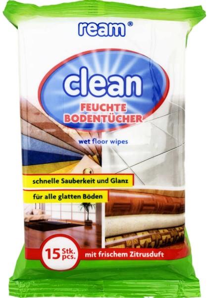 Ream Clean Feuchte Bodentücher 15 Stück