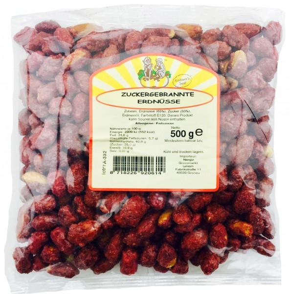 Jumbo Erdnüsse zuckergebrannt 500gr