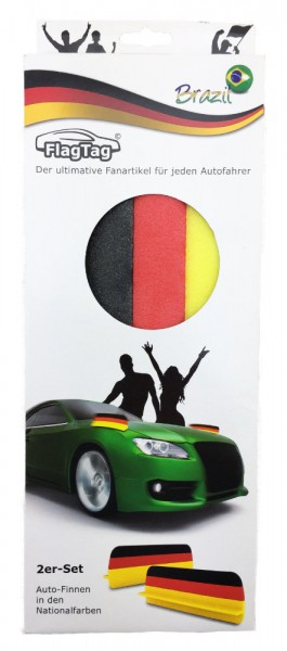 Auto Finnen in den Farben Deutschlands 2er Set