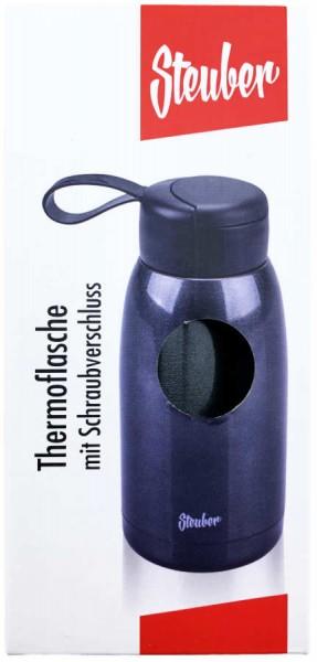 Thermoflasche mit Schraubverschluss Schwarz