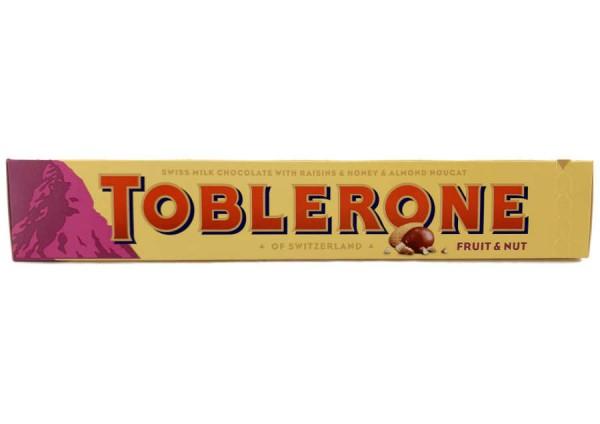 Toblerone Fruit and Nut Schweizer Schokolade mit Trauben und Mandelnougat 100g