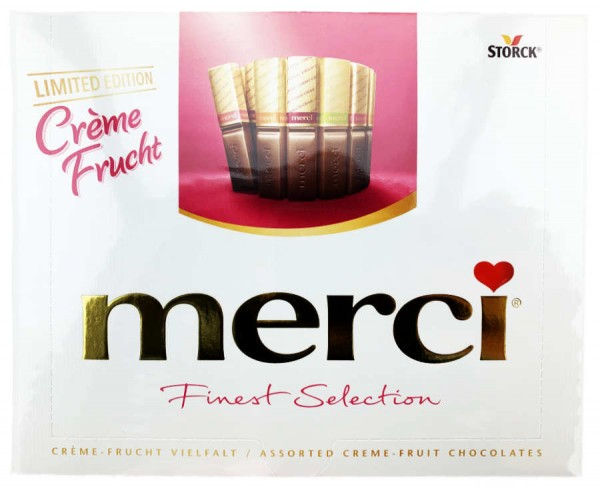 Merci Finest Selection Tafel Creme Frucht Limited Edition 200g