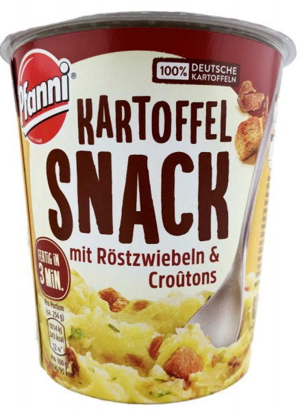 Pfanni Kartoffel Snack mit Röstzwiebeln und Croutons 56g