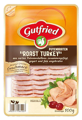 Gutfried Putenbraten Roast Turkey Aufschnitt 100g