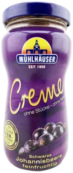 Mühlhäuser Creme Konfitüre schwarze Johannisbeere 300g