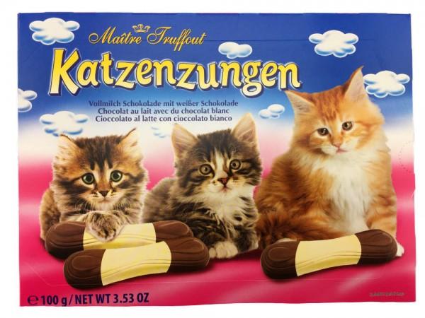 Katzenzungen mit Vollmilch- und Dunkeler- Schokolade 100g