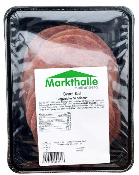 Markthallen Corned Beef ungleiche Scheiben ca 240g