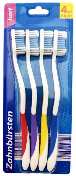 Zahnbürsten Hart 4er Pack