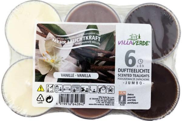 Duftteelichter Vanille 6 Stück