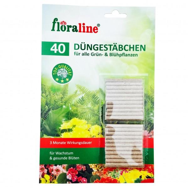 Floraline Düngestäbchen 40er Für alle Grün & Blühpflanzen