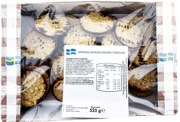 Schwedisches Gebäck Hafertaler mit Schokolade 525g
