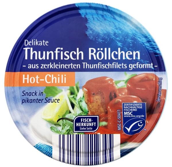 Thunfisch Röllchen Snack in pikanter Sauce Hot Chili 200g