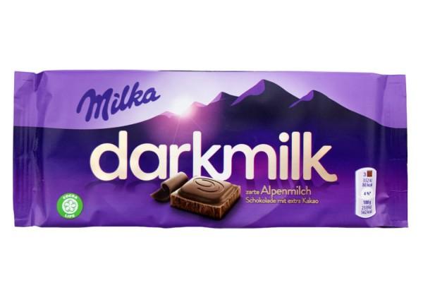 Milka Darkmilk zarte Alpenmilch 85g
