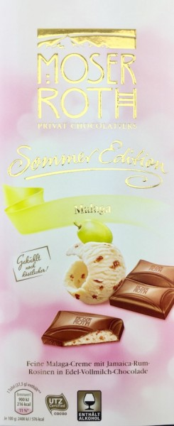 Moser Roth® Schokolade Sommer Edition Malaga 187,5g