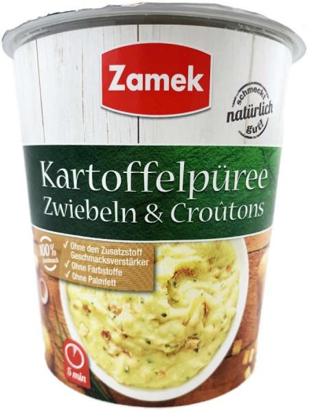 Kartoffelpüree mit Zwiebeln und Croutons 53g