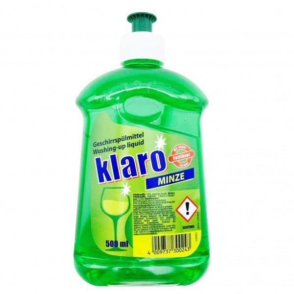 Klaro Spülmittel Minze 500ml Hocheffizient