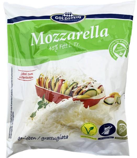 Goldsteig Mozzarella Käse gerieben XXL Beutel 1000g