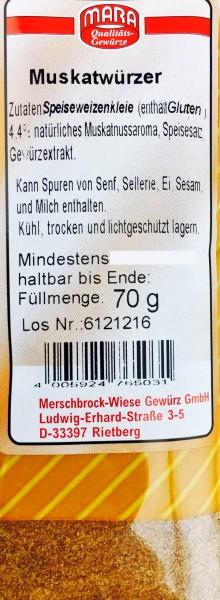 Muskatwürzer 70gr