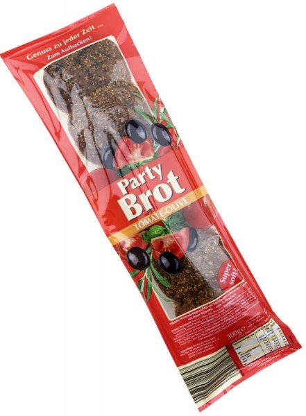 Partybrot Tomate Olive 300g auch Ideal für den Grill