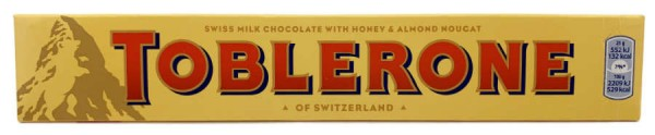Toblerone Schweizer Schokolade mit Honig und Mandeln 100g
