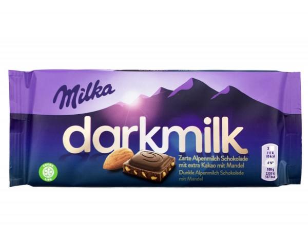 Milka Darkmilk Extra Kakao mit Mandel 85g