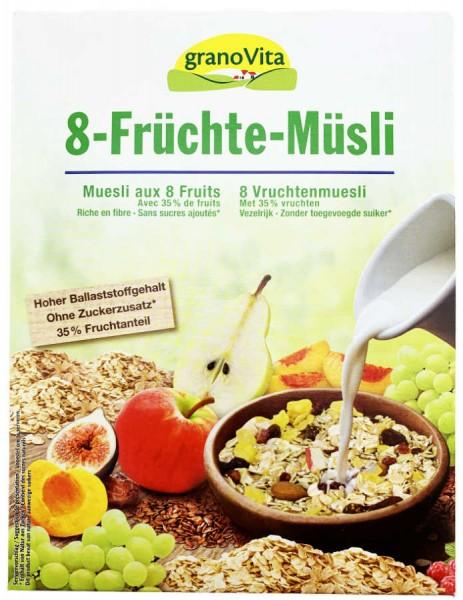 GranoVita 8-Früchte Müsli 1000g XL Pack