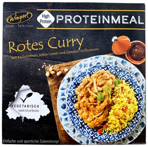 Wingert Proteinmeal Rotes Curry 375g
