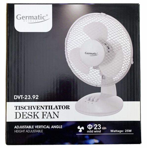 Tisch Ventilator 25W 23cm weiß