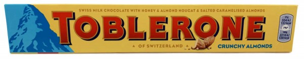 Toblerone Schweizer Schokolade Crunchy Almonds 100g