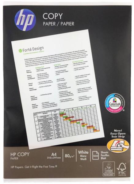 HP Papier Druckerpapier A4 500 Seiten Weiß