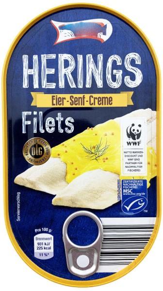 Heringsfilets in Eier Senf Creme 200g