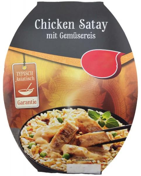 Asia Fertiggericht Chicken Satay mit Gemüsereis 350g