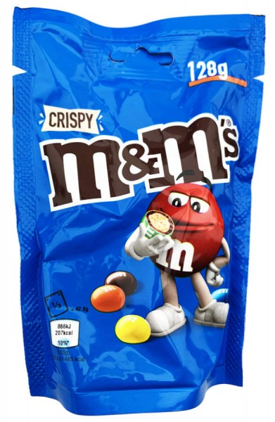 m&m's Schokolinsen Crispy 128g