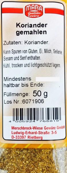 Koriander gemahlen 50gr