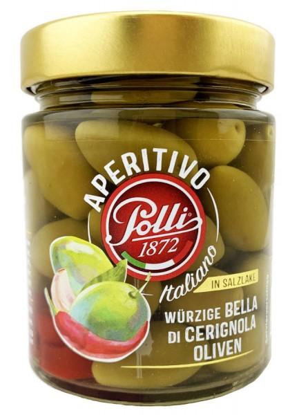 Polli würzige Bella Di Cerignola Oliven 180g