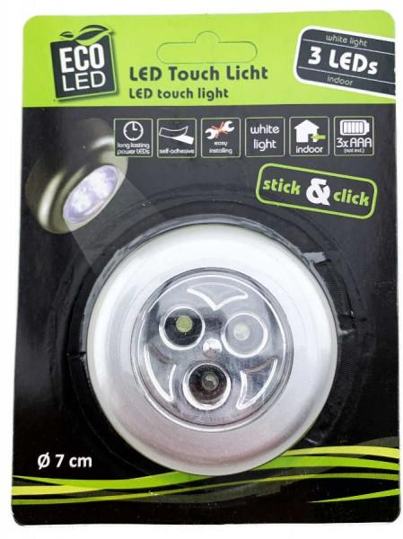 LED Touch Licht rund 1 Stück