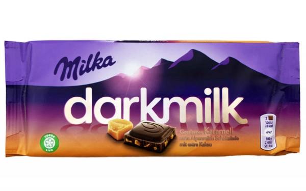 Milka Darkmilk Schokolade Gesalzenes Karamell 85g