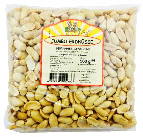 Jumbo Erdnüsse gebrannt und gesalzen 500gr