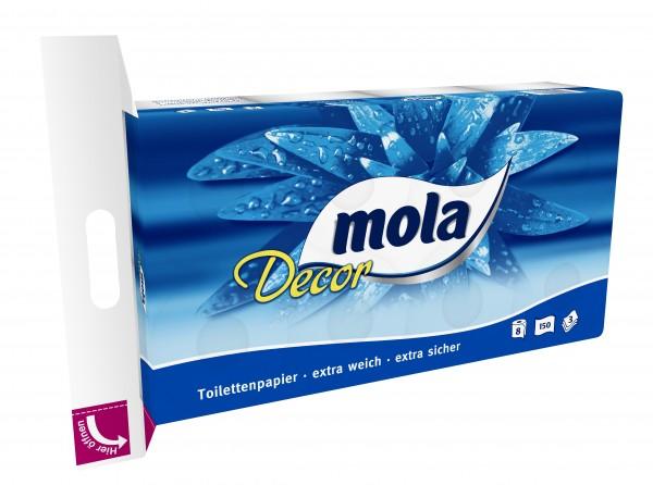 Mola Decor Toilettenpapier 8er 150 Blatt 3-Lagig