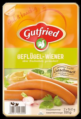 Gutfried Geflügel Wiener 2x4er 320g