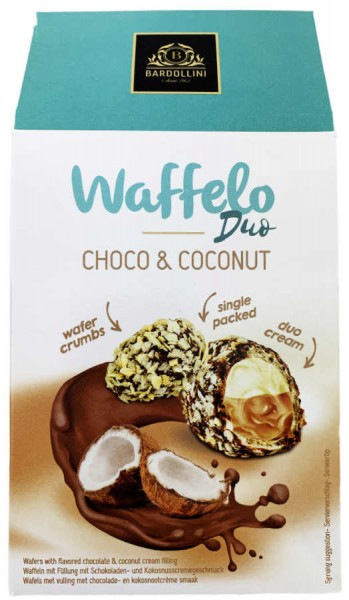 American Bakery Waffelo Duo Schoko und Kokosnuss 123g